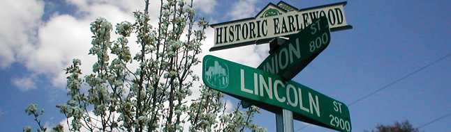 Historic Earlewood Neighborhood - Street Sign for Historic Neighborhood